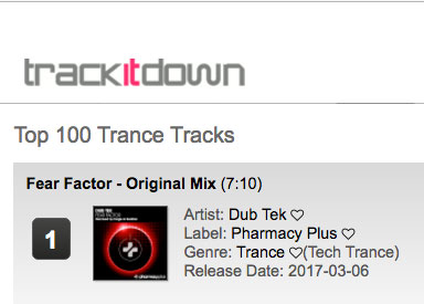 Dubtek – Fear Factor hits #1 on Trance Chart