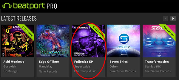 Superoxide – Fullonica EP is a Featured Release on Beatport